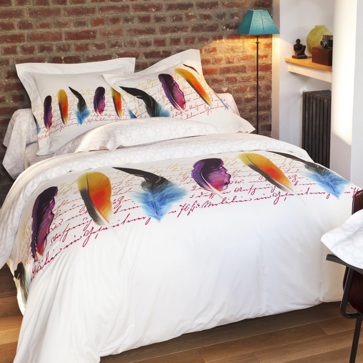 Housse de Couette Plumetis   Percale de coton   Linge de lit   Tradition des Vosges