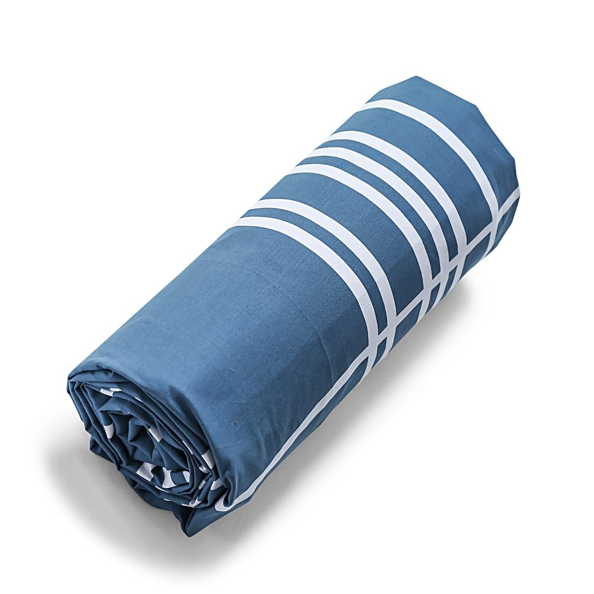 Drap-housse Ouessant | Linge de lit percale de coton | Tradition des Vosges