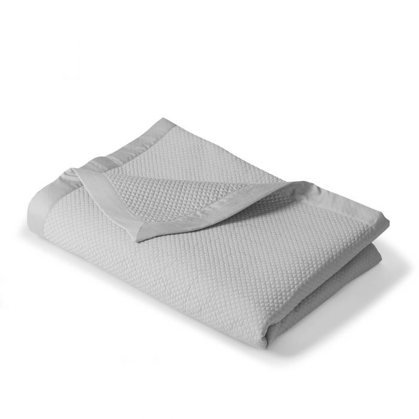 Couvre-lit satin de coton Charme | Linge de lit uni | Tradition des vosges