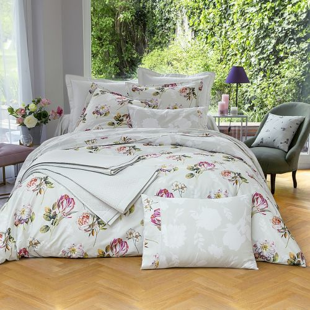 Parure de lit satin de coton Idylle | Linge de maison en satin | Tradition des Vosges