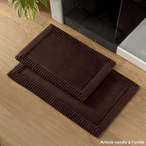 Bath mat Chenille Brown