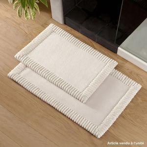 Bath mat Chenille Beige
