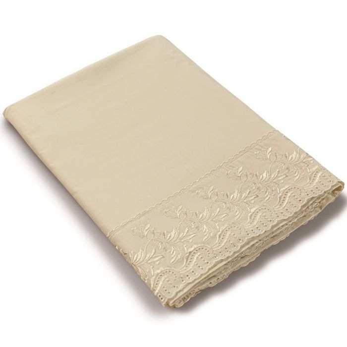 Drap plat percale de coton Poesie | Linge de lit percale de coton | Tradition des Vosges