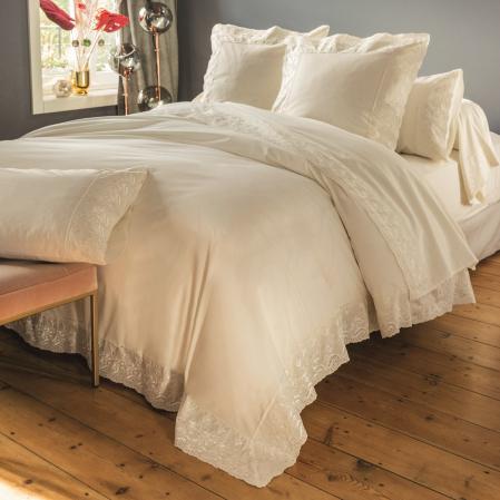 Parure de lit percale de coton Poesie | Linge de lit | Tradition des Vosges