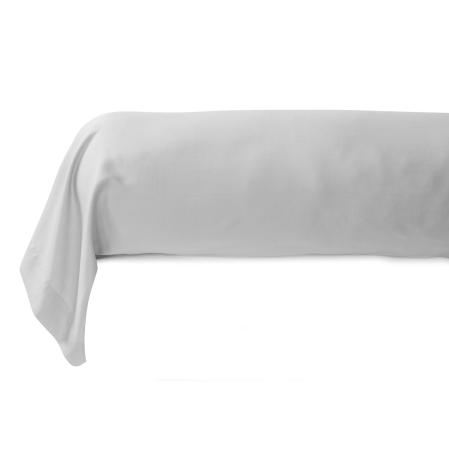 Taie de Traversin Renaissance Gris | Linge de lit en satin de coton | Tradition des Vosges