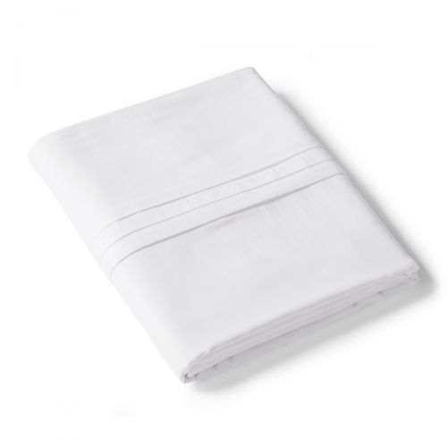 Drap plat Renaissance Blanc | Linge de lit en satin de coton | Tradition des Vosges