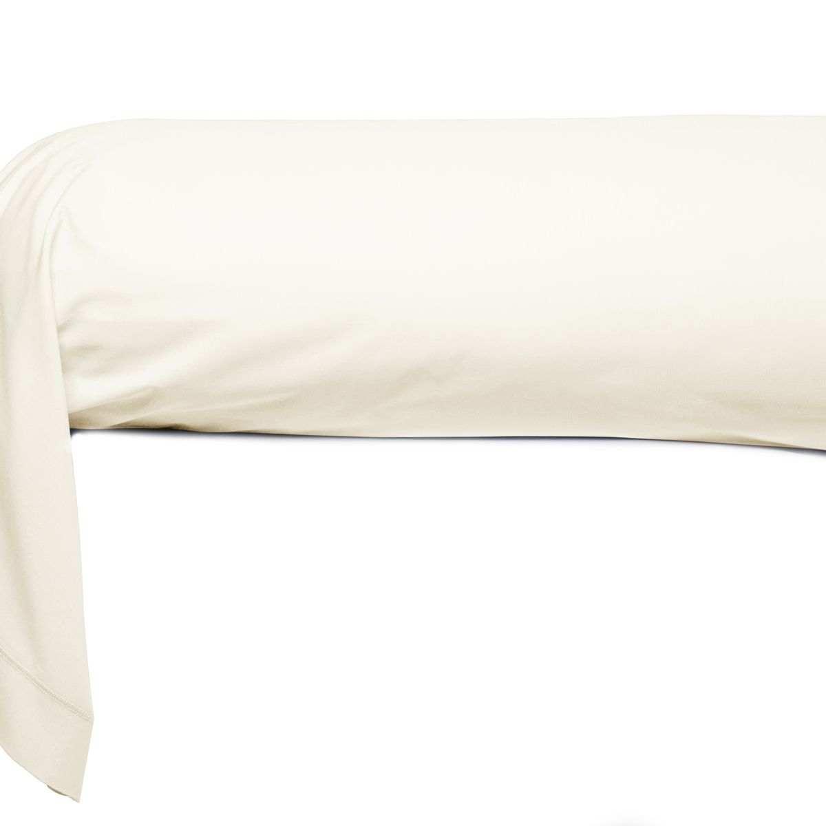 Taie de Traversin percale de coton 80 fils naturel - Tahiti | Linge de lit percale de coton | Tradition des Vosges