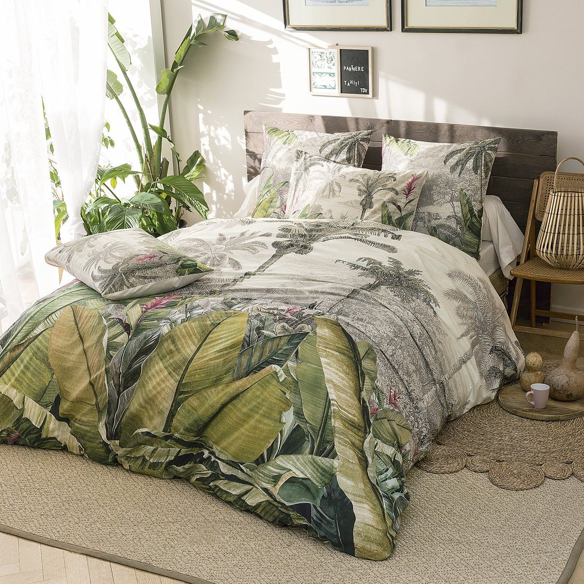 Bed set in percale of cotton - Tahiti