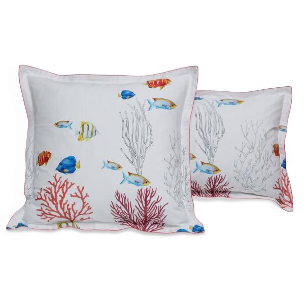 Linge de lit percale 70 fils - Corail | Linge de lit | Tradition des Vosges
