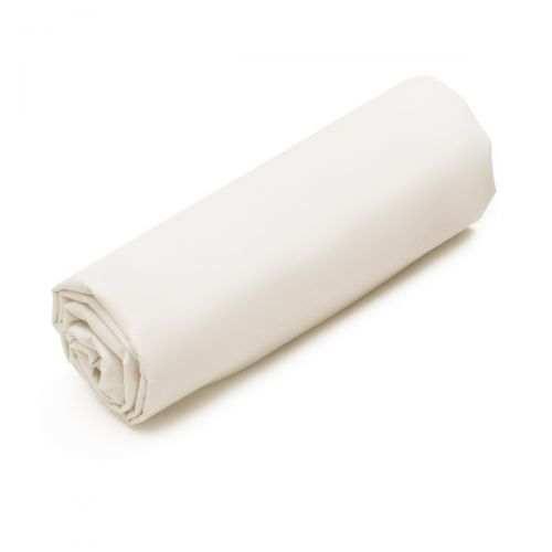 Drap-housse Percale de coton Bio 80 fils Blanc | Linge de lit Bio | Tradition des Vosges