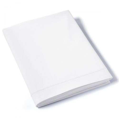 Drap plat Percale de coton Bio 80 fils Blanc | Linge de lit percale de coton Bio | Tradition des Vosges