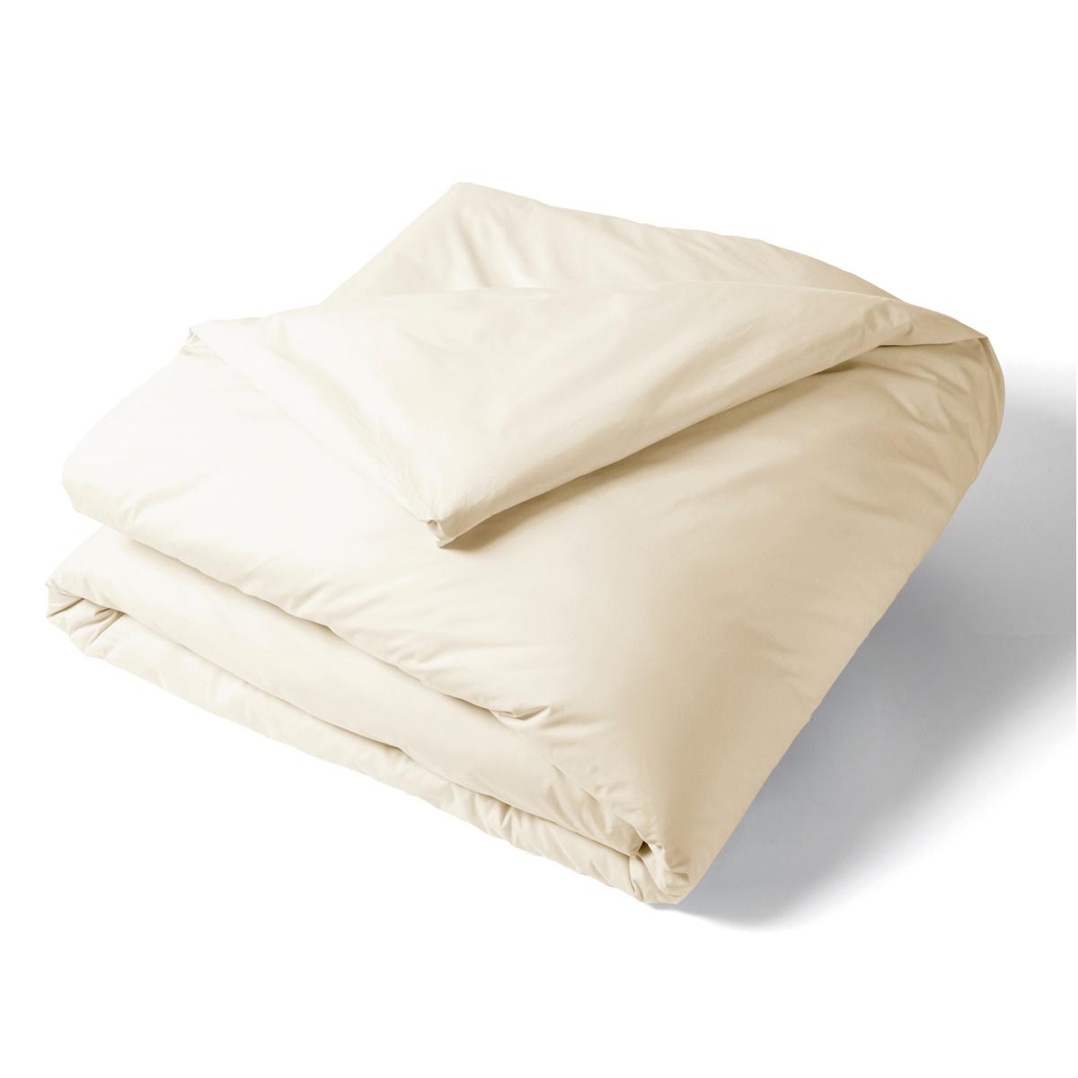 Housse de Couette Percale de coton Bio 80 fils Naturel | Linge de lit percale de coton Bio | Tradition des Vosges