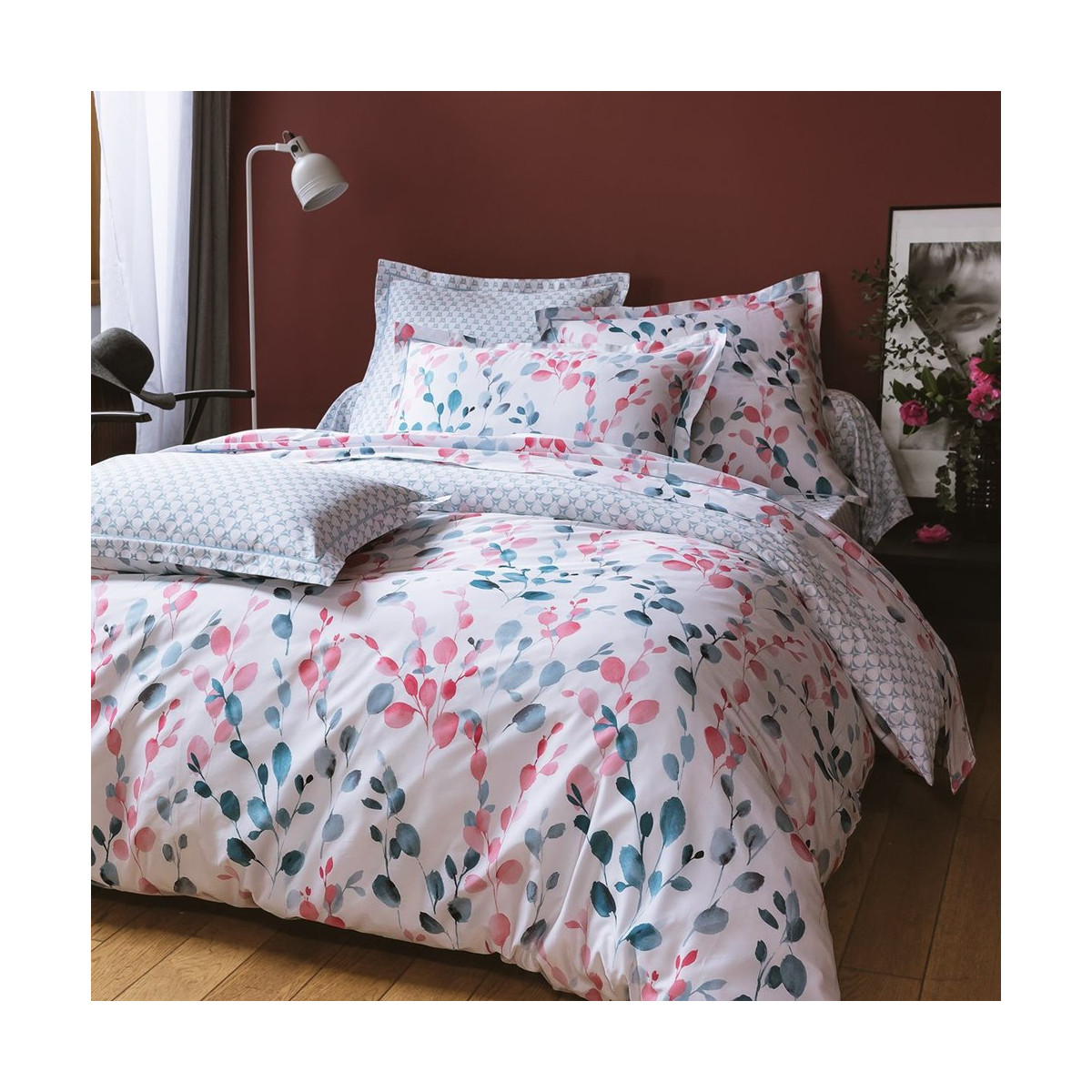 Bed set in satin of coton - Sofia