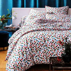 Drap-housse percale de coton 70 fils - Brush