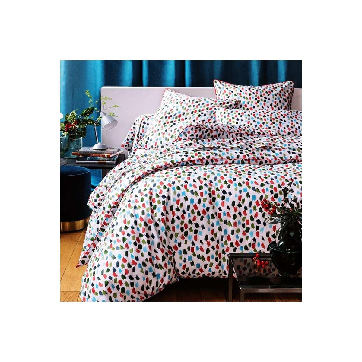 Drap-housse percale de coton 70 fils - Brush | Linge de lit percale de coton | Tradition des Vosges