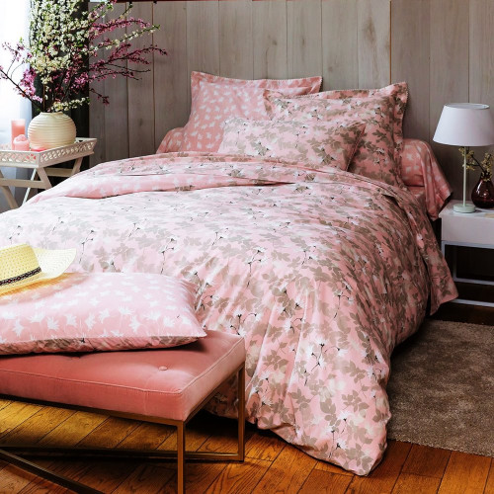 Parure percale de coton - Daisy | Linge de lit percale | Tradition des Vosges