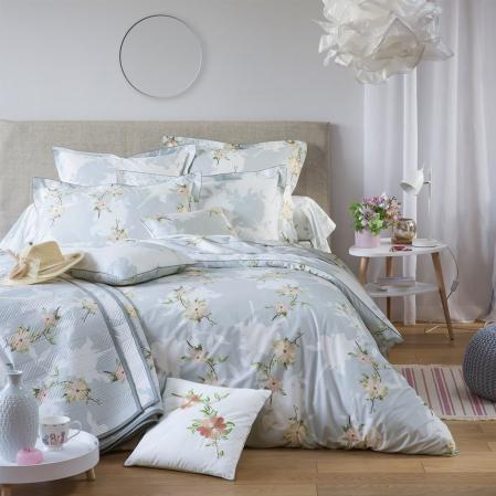 Parure linge de lit percale de coton Clématite | Linge de lit | Tradition des Vosges
