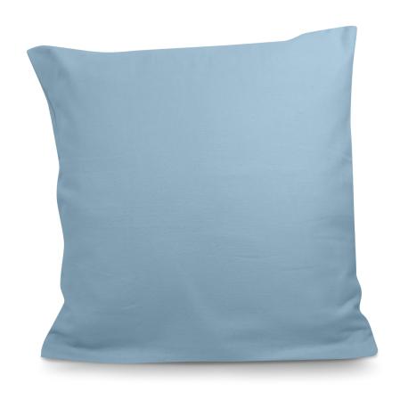 Taie d'Oreiller 65x65 cm en flanelle Cannes Bleu glacier | Linge de lit en flanelle | Tradition des Vosges