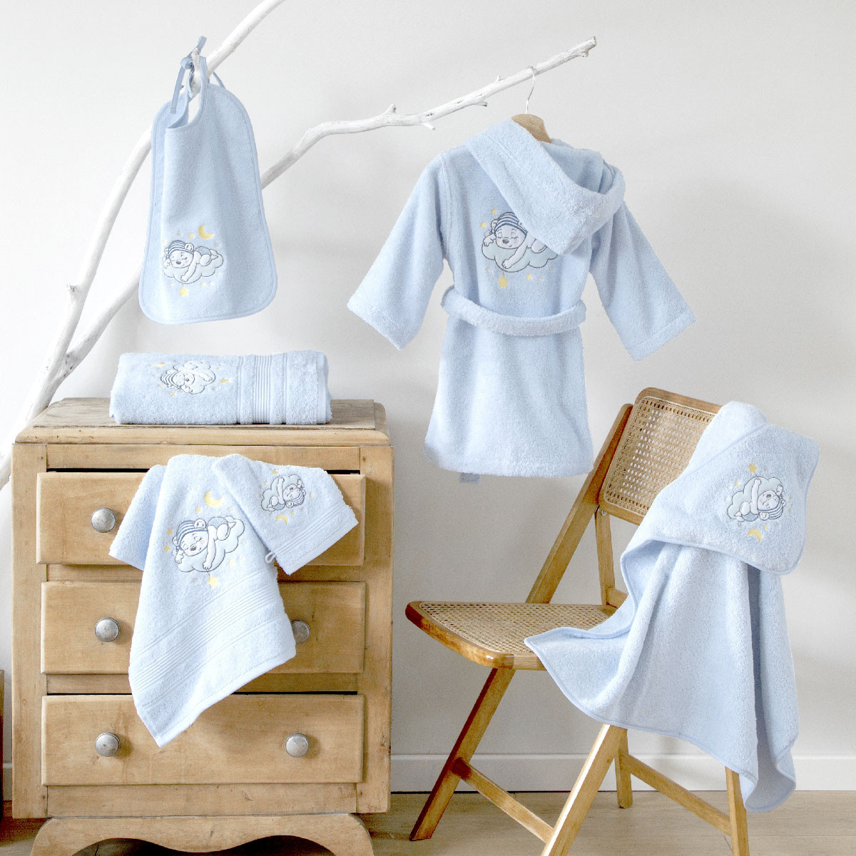 Serviette de toilette 70x140 cm enfant Katy  | Linge de bain | Tradition des Vosges