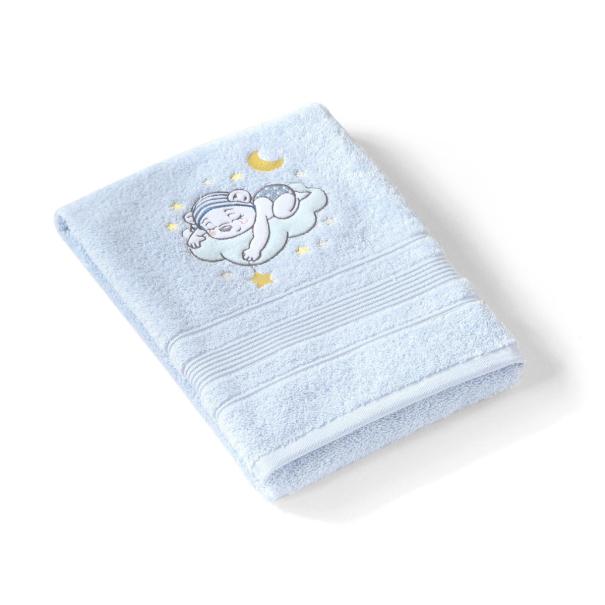 Serviette de toilette brodée 70x140 cm Katy| Linge de bain enfant | Tradition des Vosges
