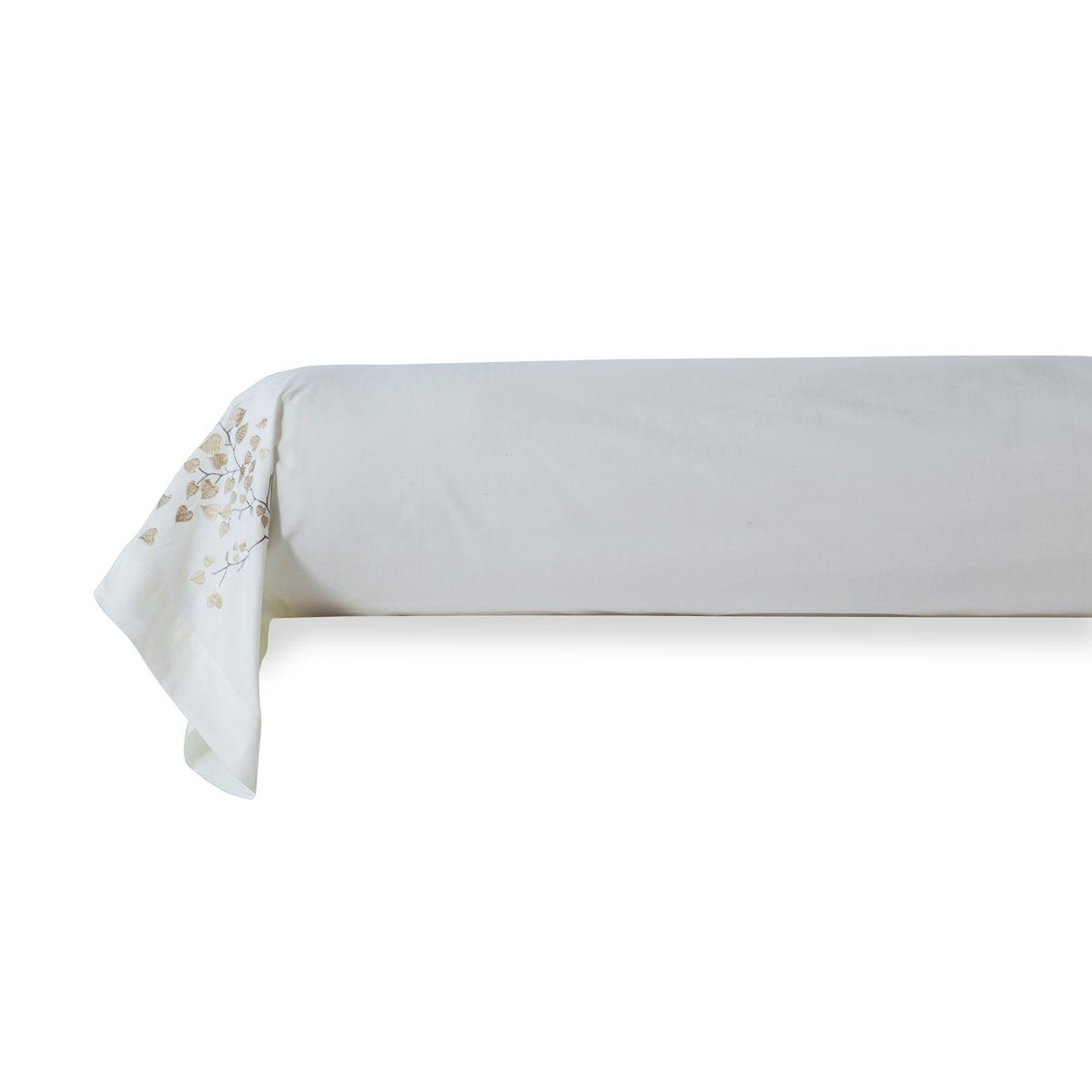Taie de Traversin brodée percale de coton 80 fils - Mathilde Parure brodée percale de coton - Mathilde | Linge de lit | Traditio