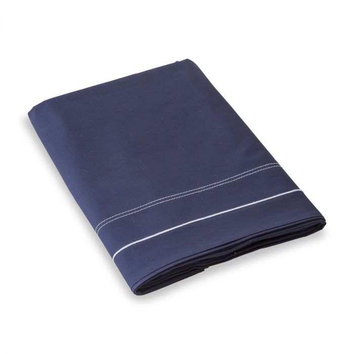 Drap plat brodé percale de coton 80 fils - Charles | Linge de lit | Tradition des Vosges