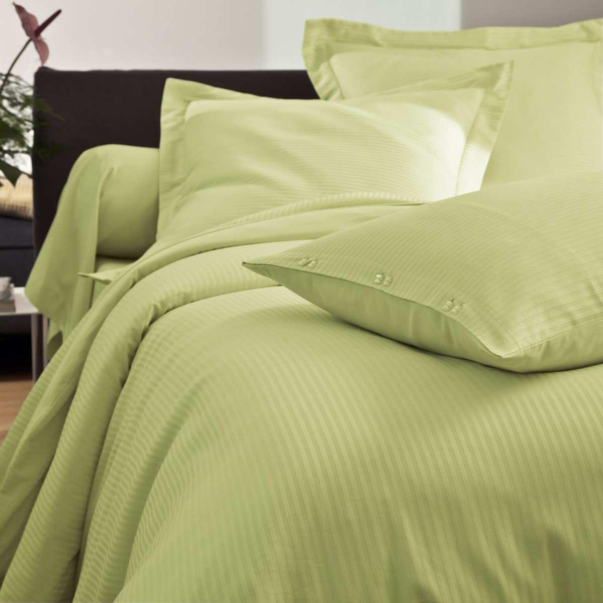 Duvet Cover Satin Jacquard white   Bed linen   Tradition des Vosges
