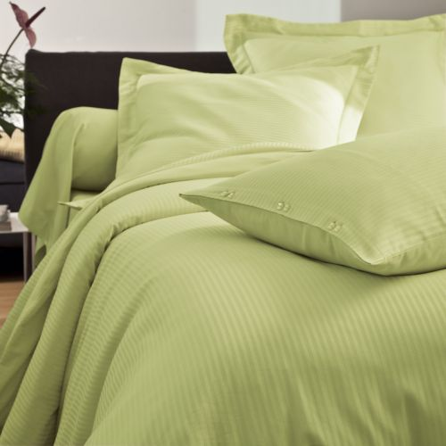 Fitted Sheet Satin Jacquard green | Bed linen | Tradition des Vosges