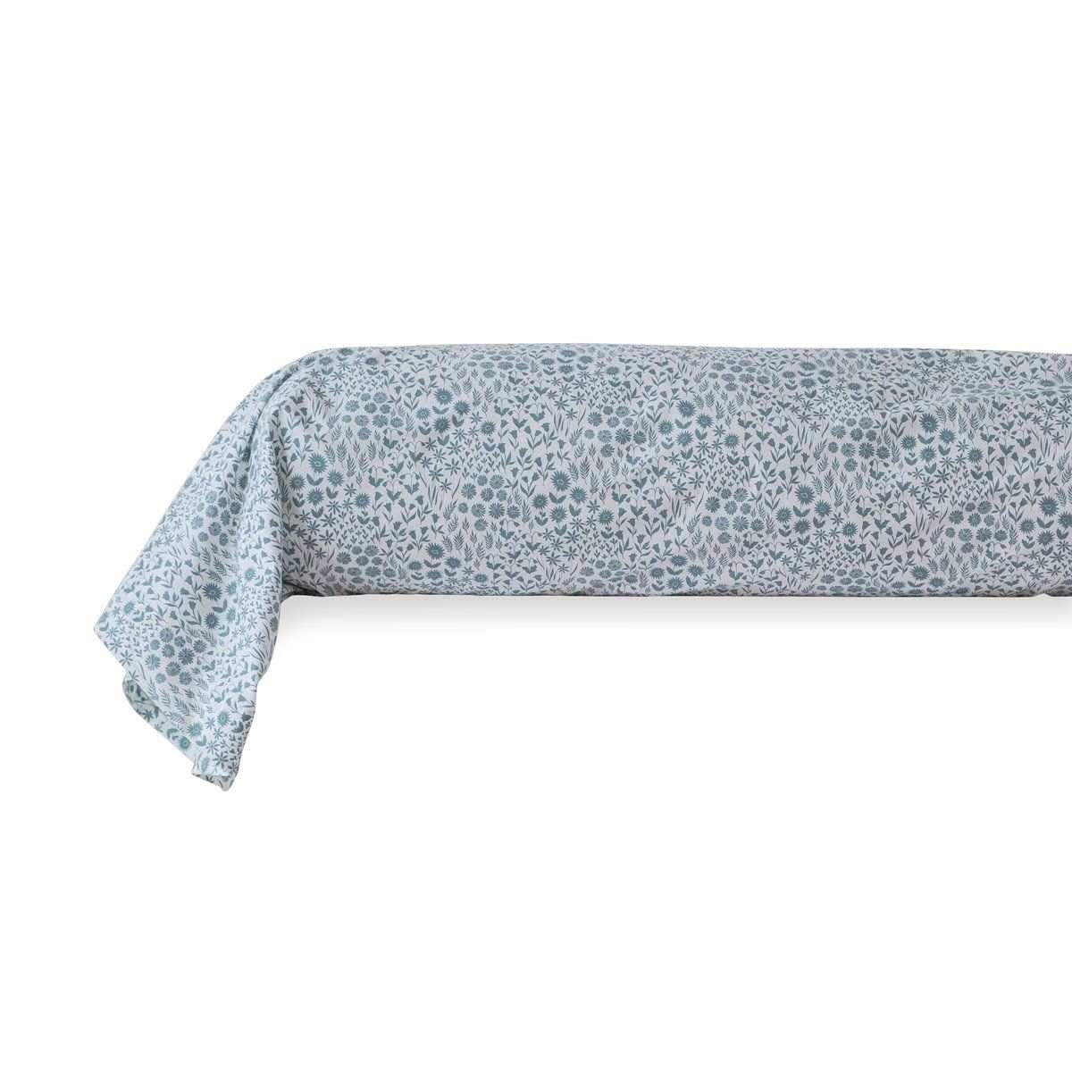 Taie de Traversin percale de coton 80 fils - Prairie | Linge de lit imprimé | Tradition des Vosges
