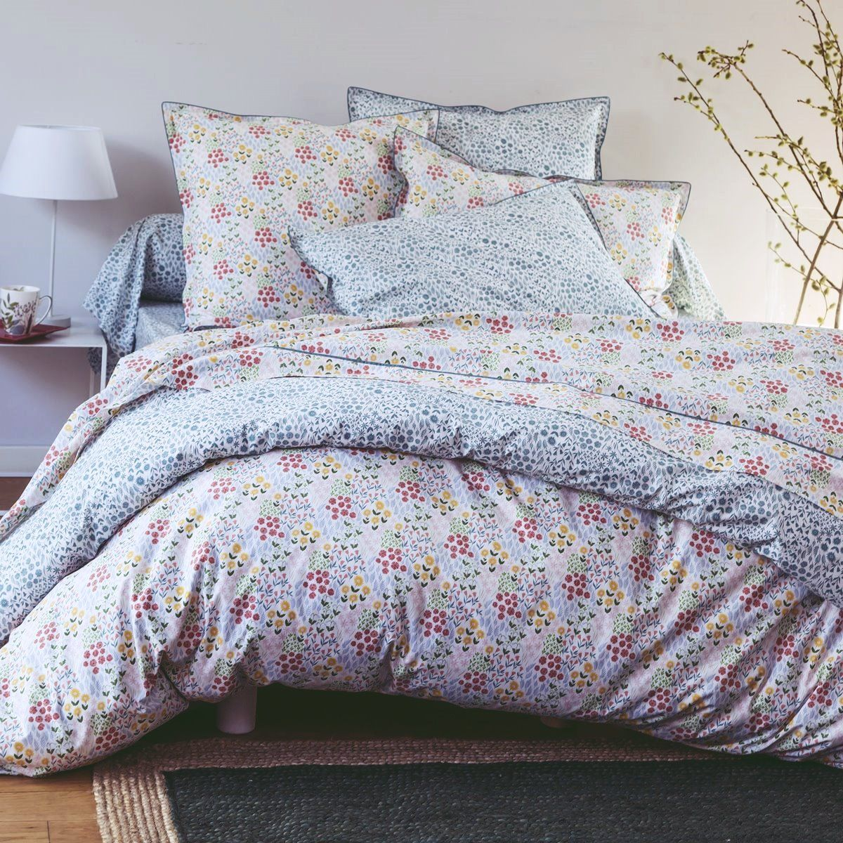 Bed set in percale of cotton - Prairie