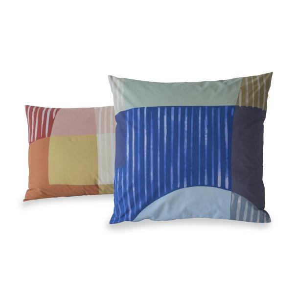 Taie d'oreiller percale de coton 80 fils - Block | Linge de lit imprimé | Tradition des Vosges