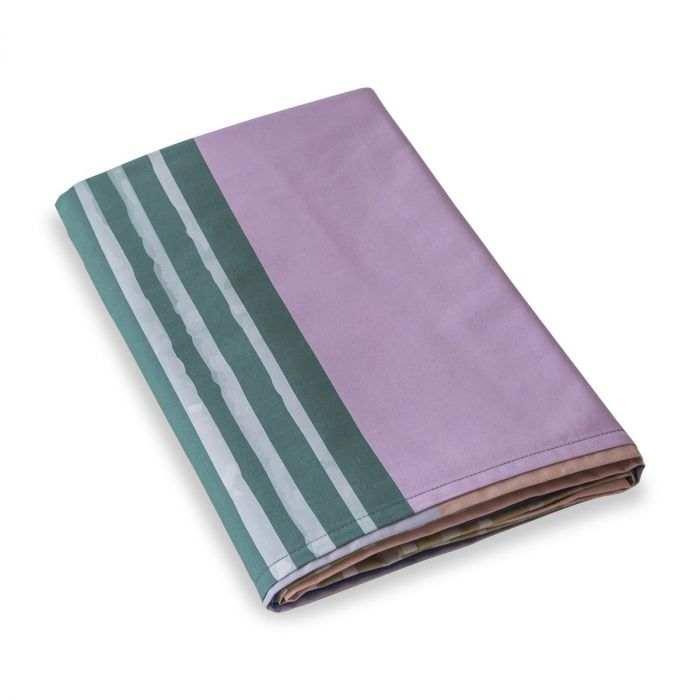 Drap plat percale de coton 80 fils - Block | Linge de lit imprimé | Tradition des Vosges