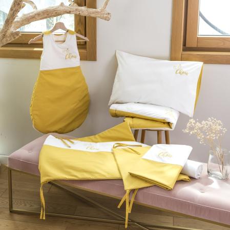 Linge de lit bébé percale de coton 80 fils - Constance