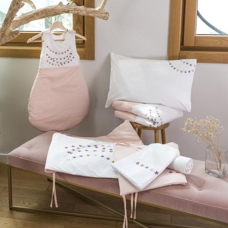 Linge de lit bébé percale de coton 80 fils - Estrella