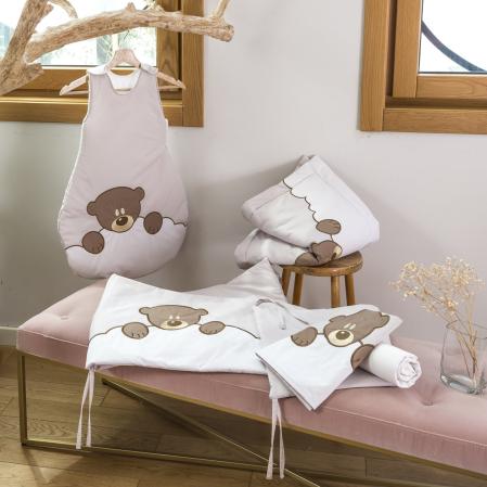 Linge de lit bébé percale de coton 80 fils - Lilo