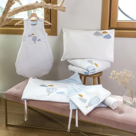 Linge de lit bébé percale de coton 80 fils - Marius