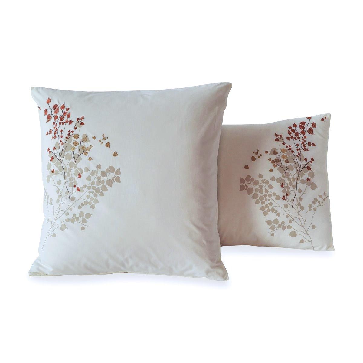 Taie d'oreiller percale de coton 80 fils - Mathilde | Linge de lit brodé | Tradition des Vosges