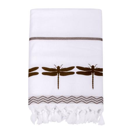 Fouta towel Libellule | Bath linen | Tradition des Vosges