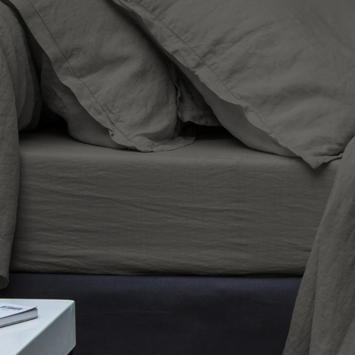 Fitted Sheet Washed Linen