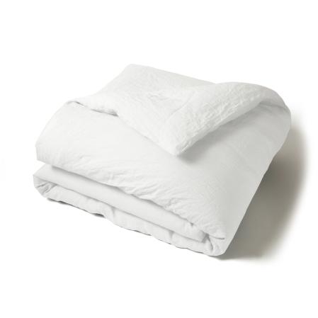 Housse Couette Unie Lin Lave Blanc