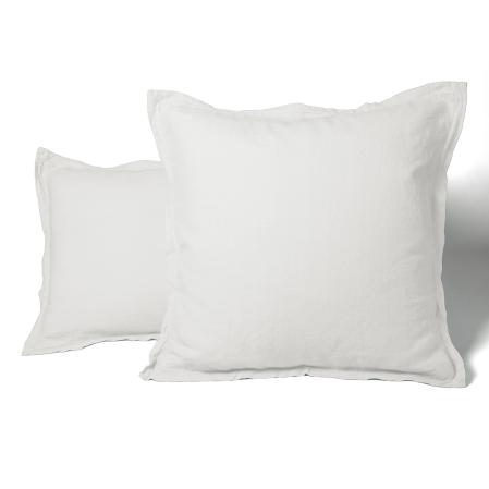 Taie Oreiller Unie Lin Lave Blanc | Linge de lit | Tradition des vosges