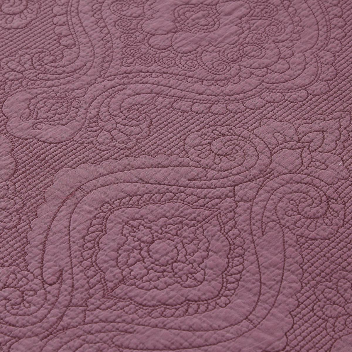 Parure couvre lit lulu aubergine tradition des vosges - Couvre lit aubergine ...