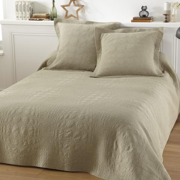 parure couvre lit lulu beige - Couvre Lit Boutis