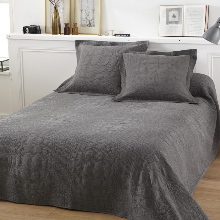 parure couvre lit lulu gris tradition des vosges. Black Bedroom Furniture Sets. Home Design Ideas