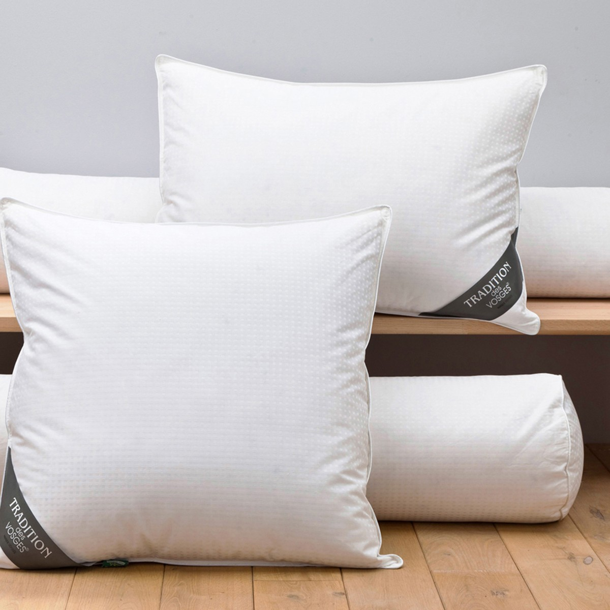 Pillow 90% goose down 10% feathers | Linge de lit | Tradition des Vosges