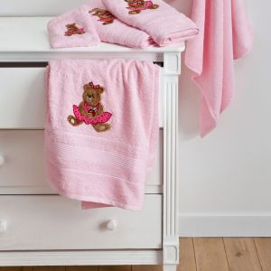 Serviette de toilette Ourson Girl