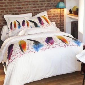 Duvet Cover Bed Set Plumetis