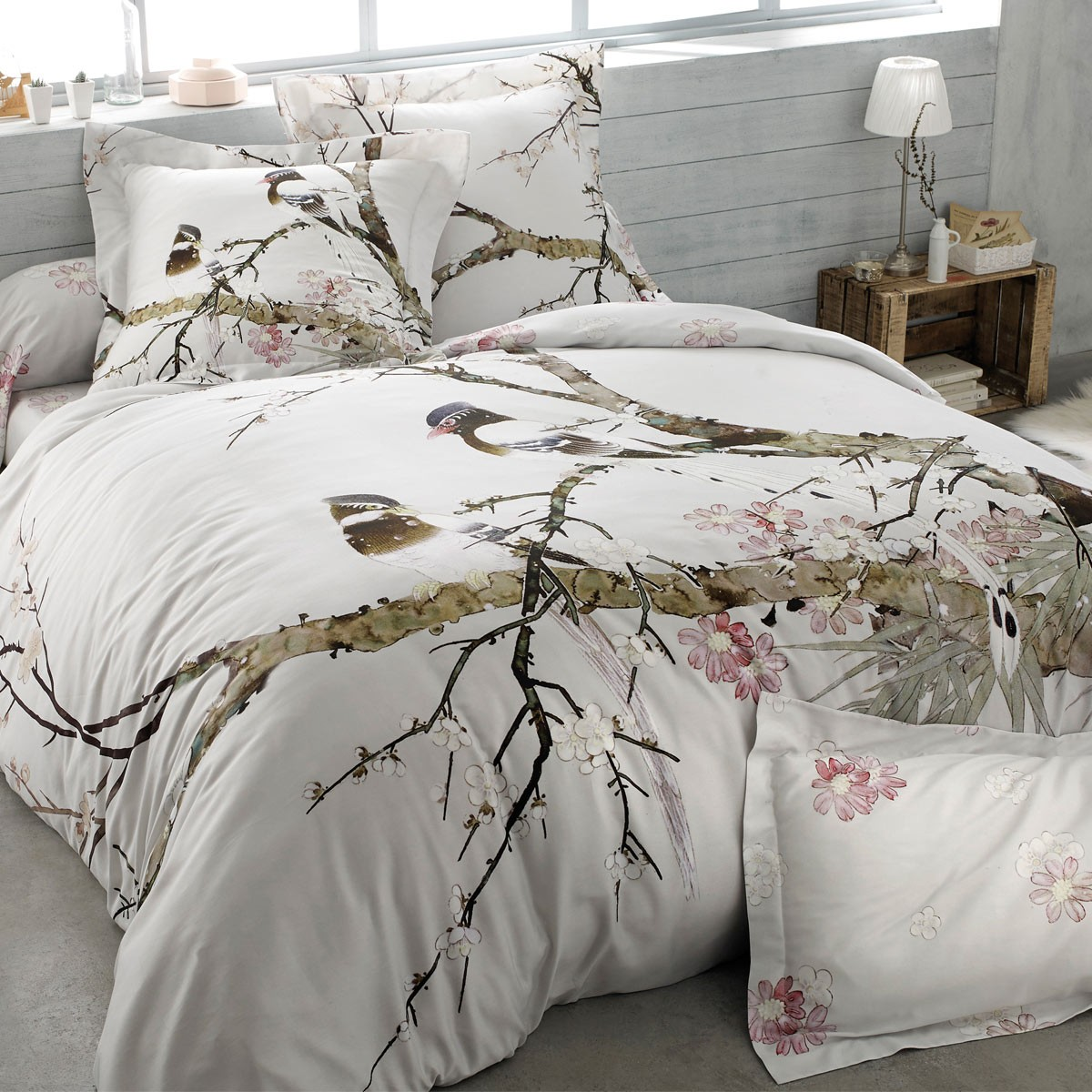 sakura duvet cover set french linen house tradition