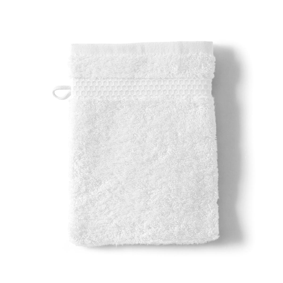 Gant Toilette Uni 600g Blanc | Linge de bain | Tradition des Vosges