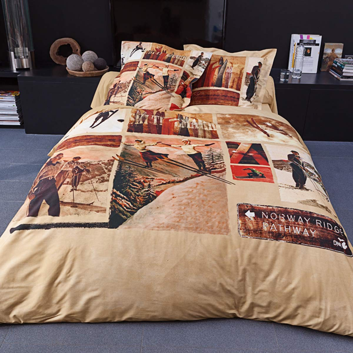 Duvet Cover Bed Set Slalom  | Linge de lit | Tradition des Vosges